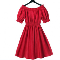 Australia New Summer style 2015 plus size Red Short sleeve Casual women dresses
