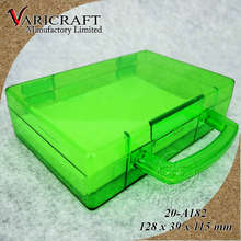 PS Plastic Candy box with hinges and handle Clear briefcase shaped container