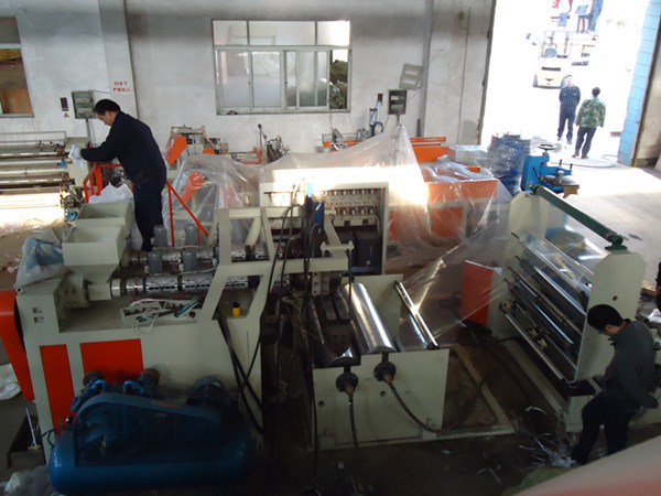 Double Screw Plastic Casting Stretch Film Making Machine Production Line