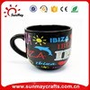 Wholesale custom high quality Spain IBIZA souvenir ceramic cup for sale