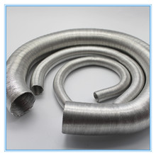 Colorful flexible duct car auto engine aluminum duct exhaust flex tube stainless steel corrugated duct