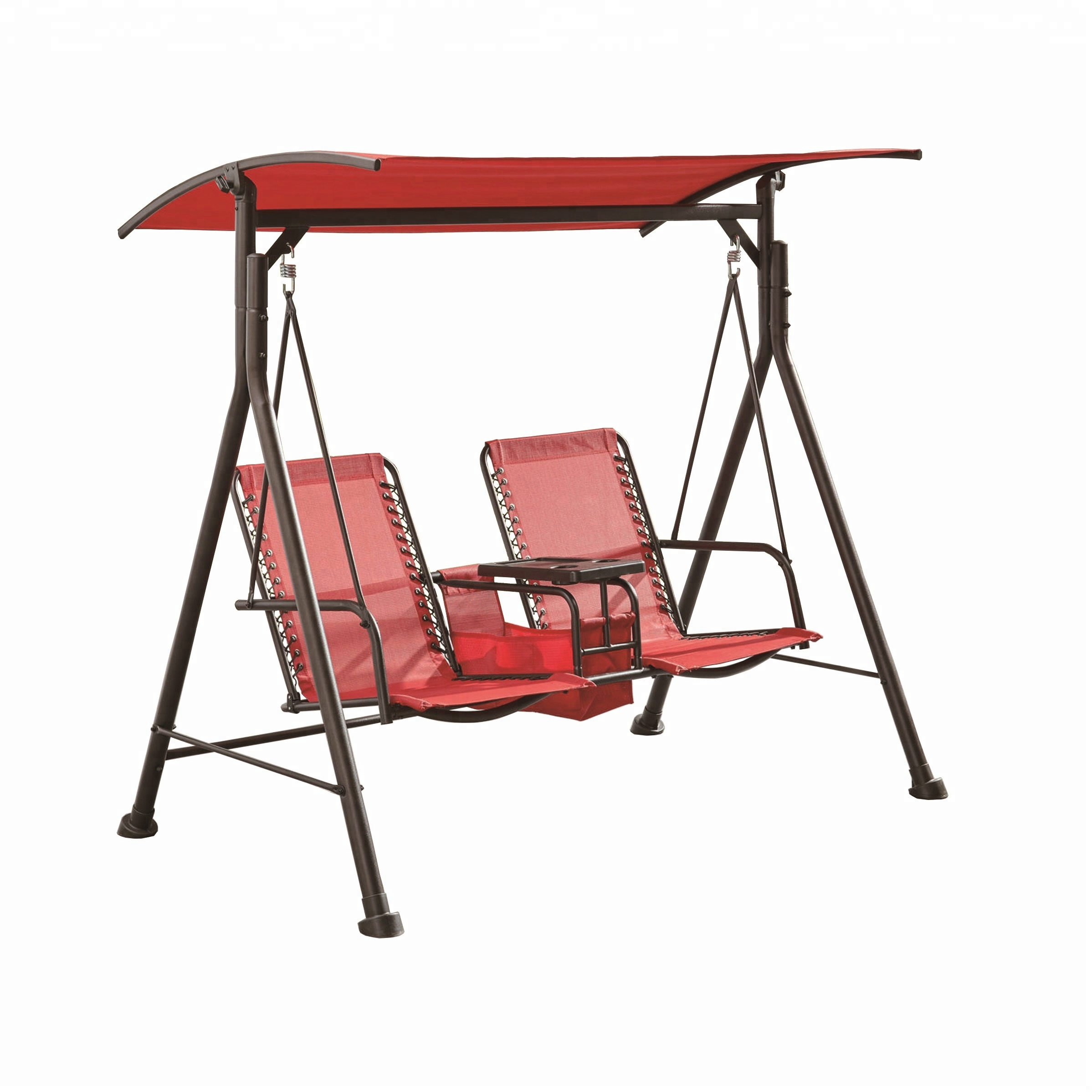 2 Seater Steel Sling Patio Swing With Table Attached Buy Patio