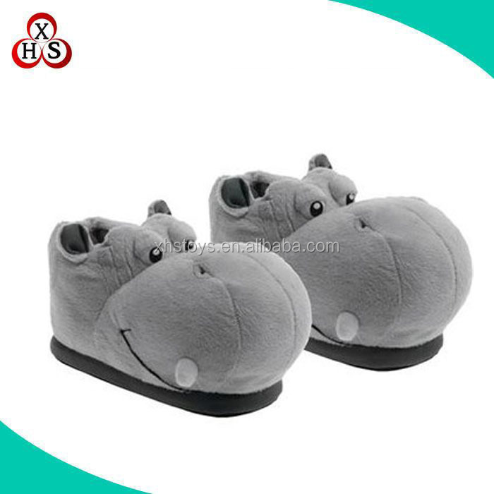 wholesale best made cheap stuffed plush slippers from china