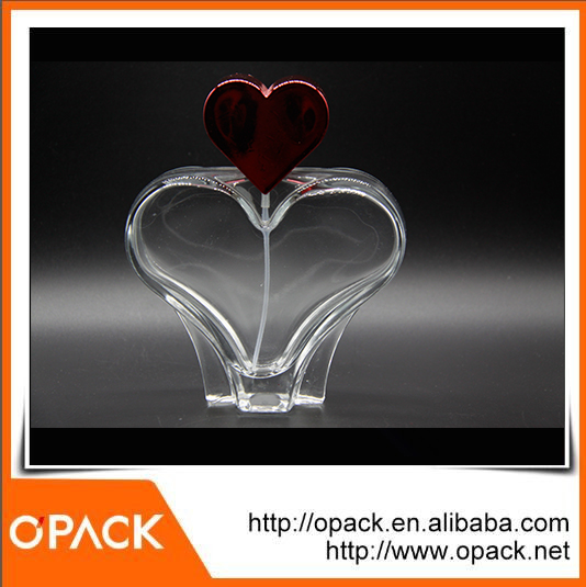 New product heart head glass crystal perfume bottle in factory