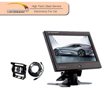 one button high pixels digital screen 7inch car lcd monitor mini tv for car + bus + truck use