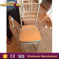 wholesale crystal weddings iron white bamboo chairs for banquet hotel