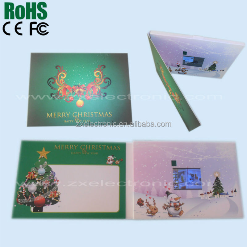 digital lcd video greeting card with usb download function