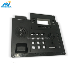OEM custom design plastic injection front cover for office videophone,front cap injection parts,