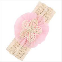 Newly Design 1 Piece Baby Infant Headbands Mesh Flower Hair Bands Fashion Child Hair Accessories