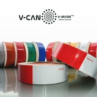 Motorcycle Reflective Tape,Retro Reflective Sticker, DOT-C2 Reflective Material for Cars, HI-INT-180012