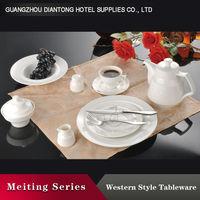 china hotel/restaurant white dinnerware ceramic set