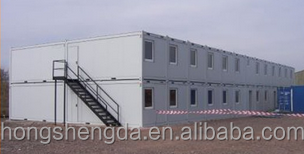 prefab shipping stackable container offices /container shops/light steel sandwich panel buildings