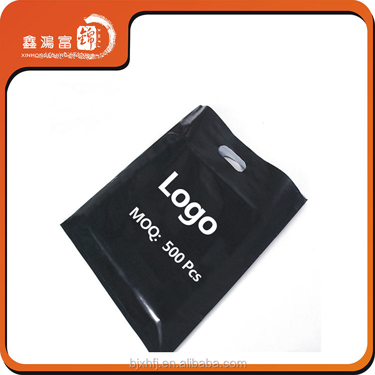 free sample black plastic bag imported from china with your own logo