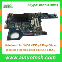 System board Replacement Laptop Motherboard for Lenovo Y460 Y450 y430 g450 Discrete graphics g430 e43 E47 e46AL