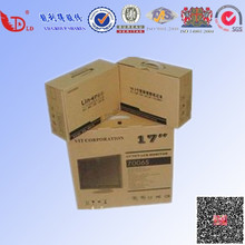 Packaging paper box cheap price corrugated carton simple black printing