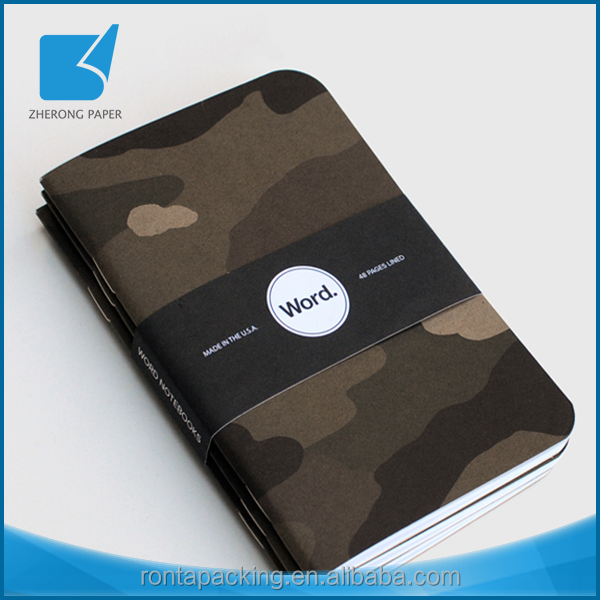 Cheap price writing pads full color wholesale pocket notebook