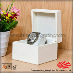 Elegant hot seller hinged white box watch