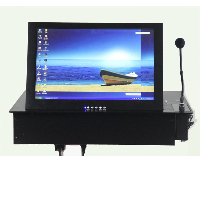 2017 hotsale RS485 control LCD flip up lift for conference / school/trading system