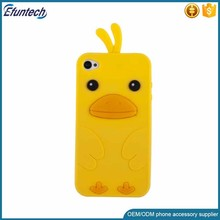 OEM customized little chicken design 3D silicone phone cover for iphone 6s case