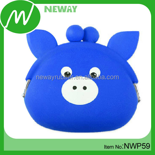 New Arrival Custom Design Rubber Squeeze Coin Purse