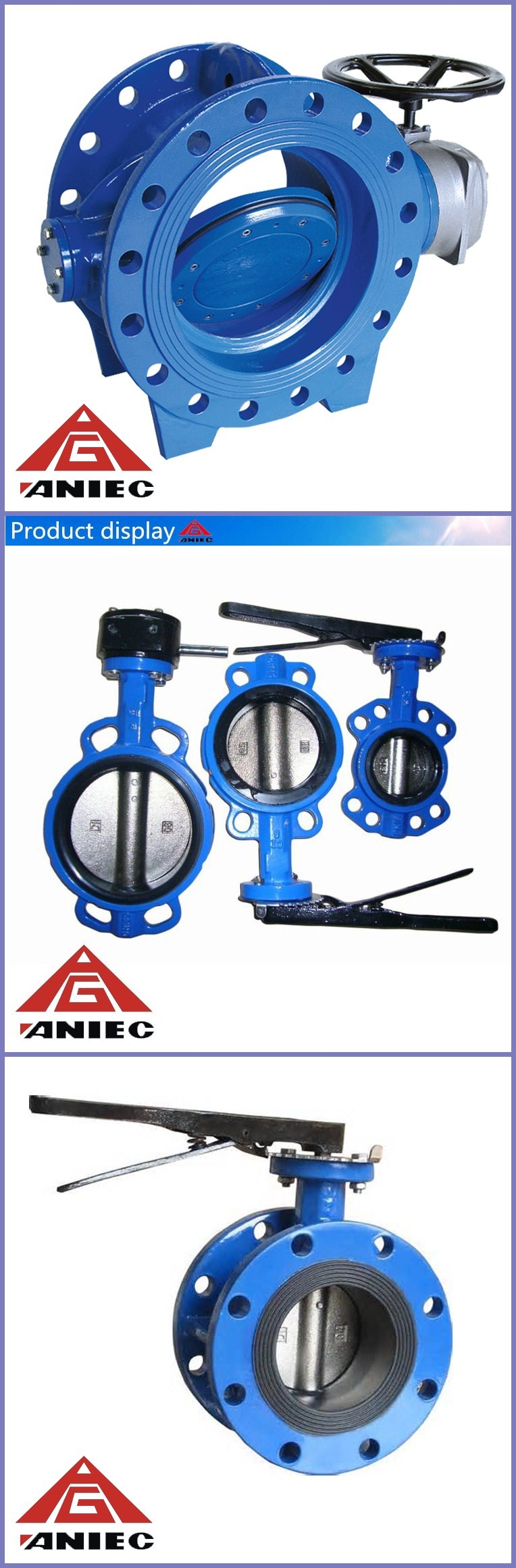 Ductile Iron lug Butterfly Valve With Gear Operation
