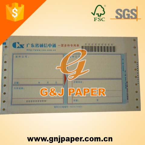 Commercial Invoice Paper Printing Receipt Paper