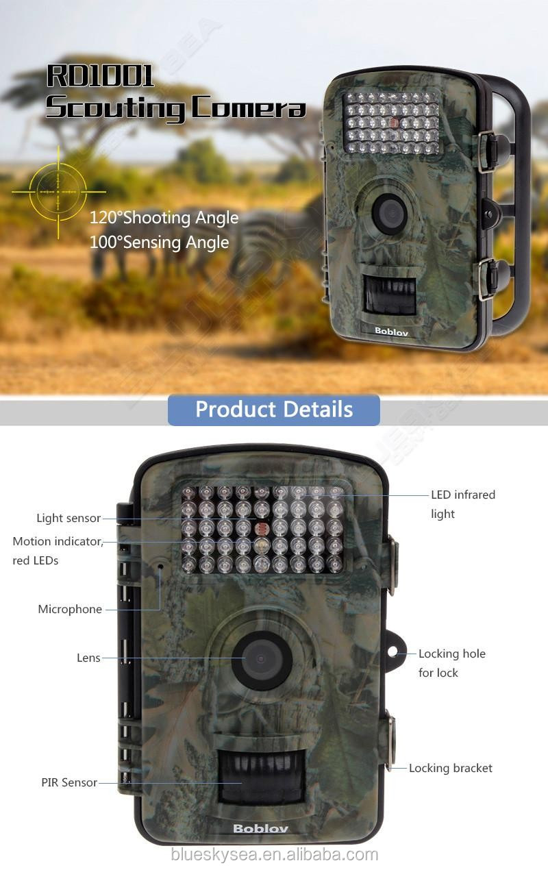 RD1000 12MP IR Night Vision Wildlife Hunting Camera Trail Security Stealth Photo