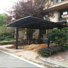 Polycarbonate and aluminum carport aluminum car parking shed