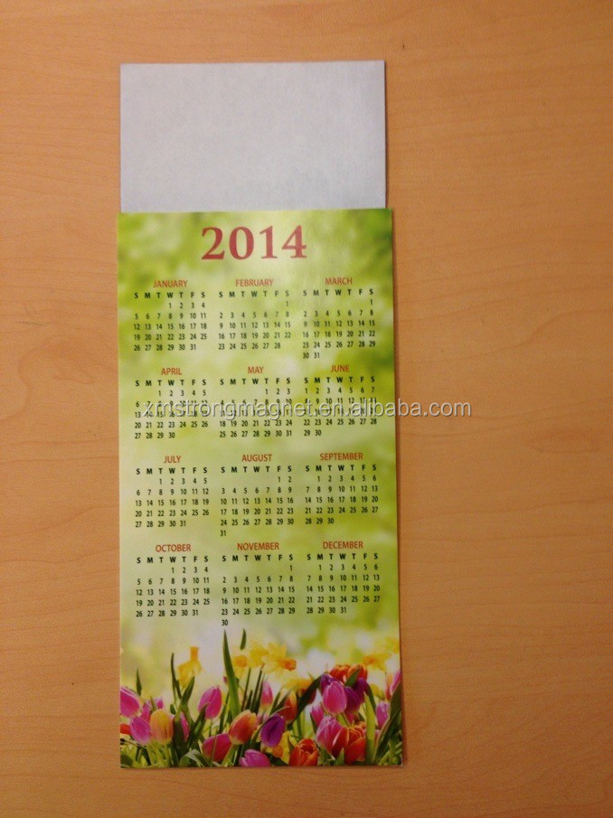 Wholesale Rubber Magnetic Calendars Magnetic Ornaments Fridge Magnets with Customizable Logos