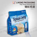 2017 TOP SALES Flat Square Bottom Plastic Zipper Bag