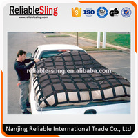 Heavy Duty Polyester Webbing Car Cargo Net With PP Mesh