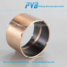 DU-B powder metallurgy bronze Bearings,PVB011 brass plating bushings, High transmission efficiency arm bush