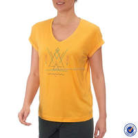 wholesale women's cotton v-neck custom printing women xxx t shirt