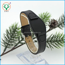 fashion custom black one-piece leather western watch band manufacture