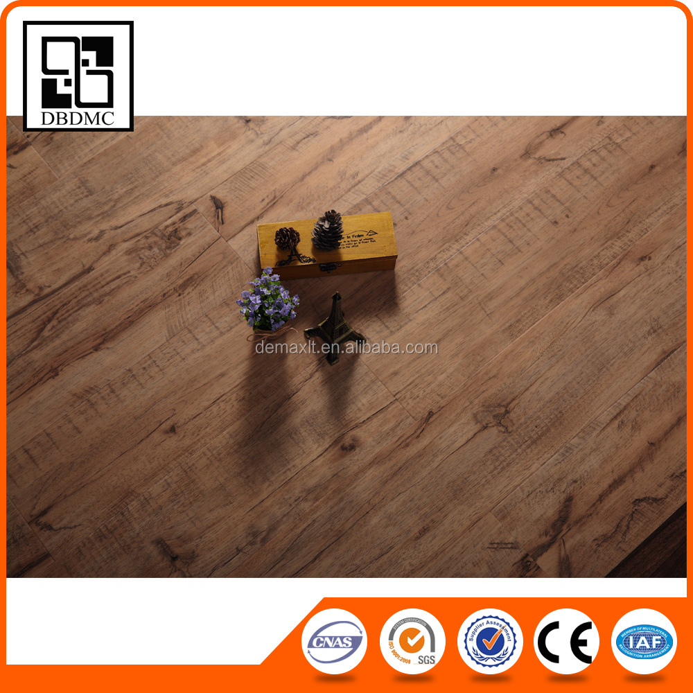 Balcony Flooring Wood Plastics Vinyl Plank / Water Resistant Wood Look Rubber Flooring