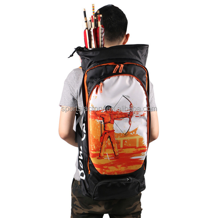 Wholesale Archery bow bag Oxford double shoulder and adjustable arrow quiver for archery hunting horseback shooting