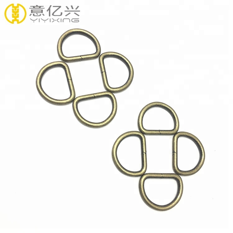 25 mm width <strong>D</strong> ring snap hook for keychain or handbag accessories