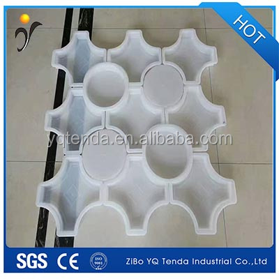 Interlocking plastic pvc paver moulds