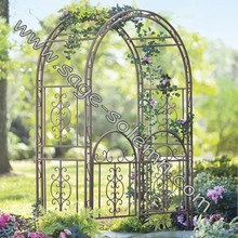 Outdoor Metal Garden Rose Arch/Garden Flower Decorative