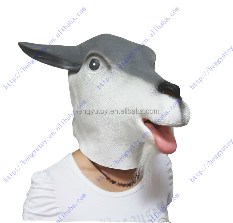 Buy direct from China Halloween prps latex goat mask for party