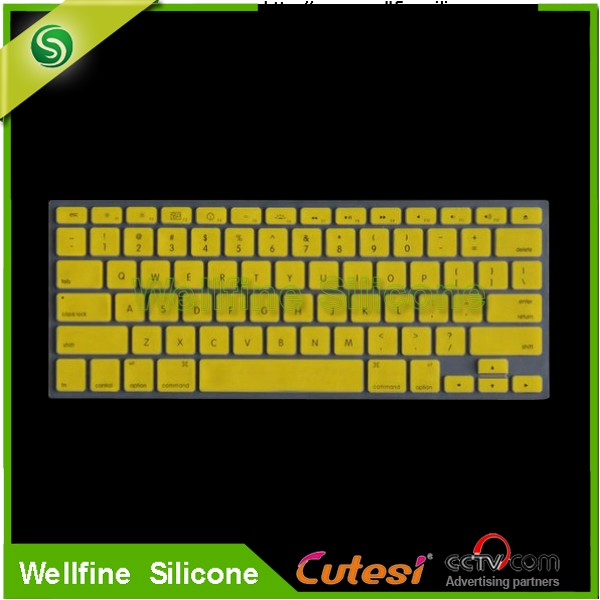 Printed silicone rubber cover for PC,transparent silicone keyboard cover