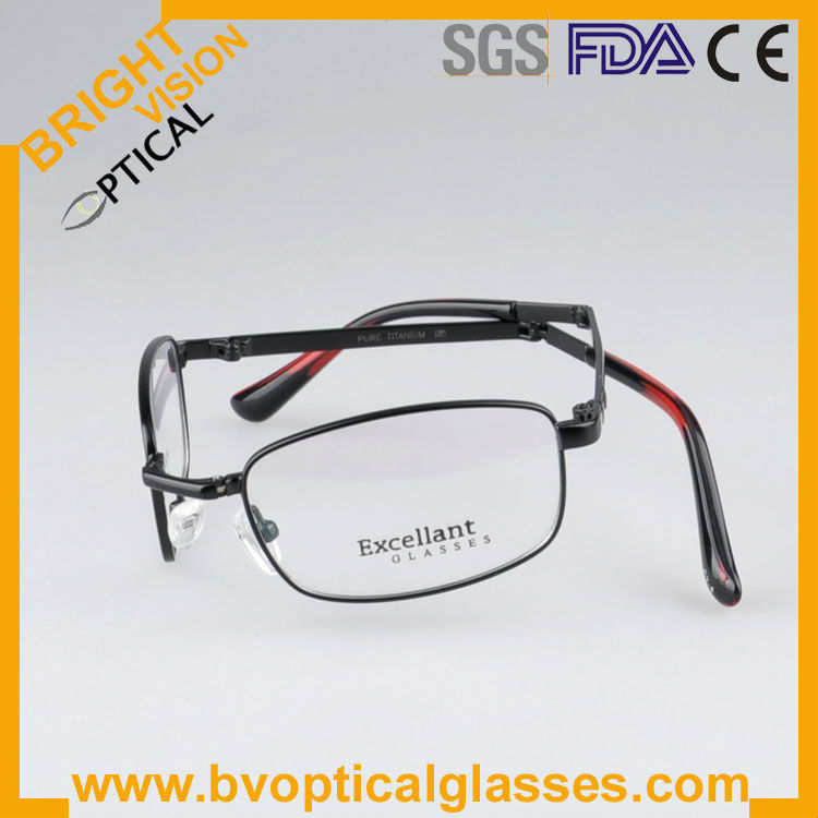 Bright Vision D913 Fashion folding pure titanium optical frame