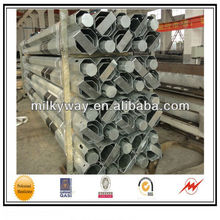 Electric power transmission lines steel pole,steel pole price