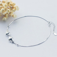 SJS606 Attractive Design New Arrival 925 Sterling Silver Wholesale Fish Anklet