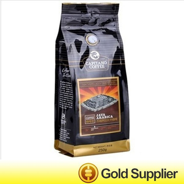 stand up custom printing coffee bags with zipper valve