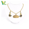 Couple Chain Woman Bulk Zinc Alloy Offset Printing Parrot Nickel Custom Pendant Necklace Jewelry For Kid