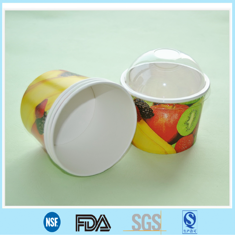 Disposable Customized Ice Cream Paper Cup Pudding Bowl Yogurt Bowl