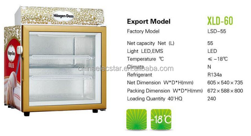 island chest freezer display showcase/ commercial ice cream freezer /supermarket frozen food cabinet