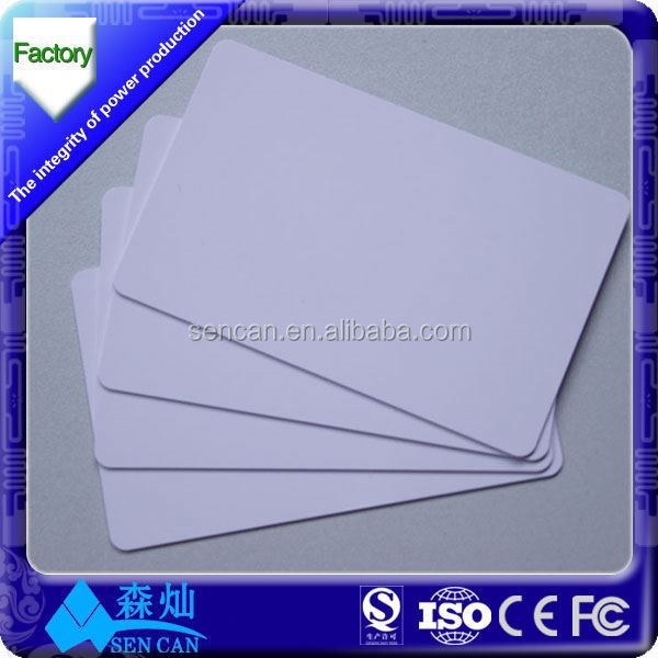 Printable long distance parking lot ISO18000-6C uhf gen2XM rfid pvc cards
