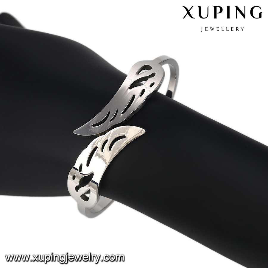 51515 xuping wholesale fashion stainless steel jewelry high quality charm bangles